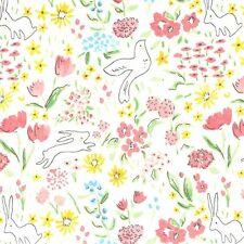 Michael Miller Sarah Jane Sommer Garden Bloom White Fabric