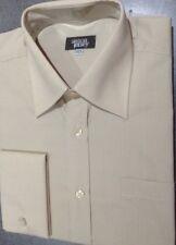 Men's Oatmeal Long Sleeve cufflink Shirt, 14½, Work Shirt, Simon Jersey  (3)