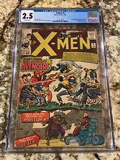 X-MEN #9 CGC 2.5 OFF WHITE PAGES NEVER PRESSED MEGA KEY 1ST X-MEN VS AVENGERS
