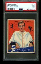 1934 Goudey CARL HUBBELL Giants #12 PSA 5