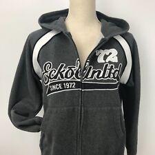 Ecko Unltd. Womens Full Zip Up Hoodie Sweatshirt Size Medium Gray Pockets