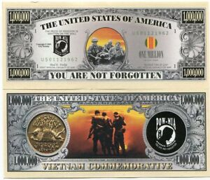 The United States of America You are Not Forgotten Vietnam War Novelty Note