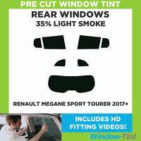 Pre Cut Window Tint - Renault Megane Sport Tourer 2017+ - 35% Light Rear