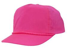 Nylon Crinkle Golf Cap - Neon Pink