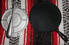 Grill & Press Set HEAVY DUTY Tortilla Cook Griddle Comal Cast Iron