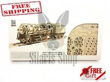 UGEARS 3D Puzzle Mechanical 460 STEAM LOCOMOTIVE Wooden Model for self-assembly