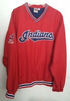 VTG Cleveland Indians Men XL MLB Pullover Jacket Jacobs Field Chief Wahoo