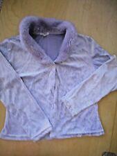 Made In Italy Lavendar Velvet Cardigan girls sz M (10/12)