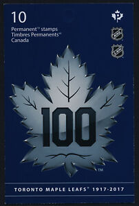 Canada 3044a Booklet MNH Toronto Maple Leafs 100th Anniv, Ice Hockey