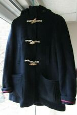 Topshop Size 12 /40 also fit 14 Navy thick wool blend Duffle Coat with Hood