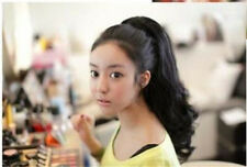 Lady Curly Wavy Clip In 50% Human Hair Ponytail Pony Tail Hair Extension Claw On