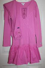 Naartjie Kids Gorgeous Pink Lace & Ruffle Dress & Leggings Set Sz 10