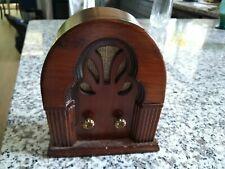 VINTAGE George Good Wood Music Box SHAPE OF RADIO INDUSTRY, CA