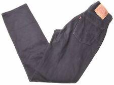 LEVI'S Mens 595 Jeans W31 L34 Black Cotton Slim  CT03