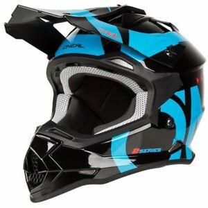 ONeal 2 Series RL Motocross Helmet in Slick Black Blue - ONeal Motocross Enduro