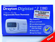 DRAYTON DIGISTAT +3 22083 7 DAY PROGRAMMABLE ROOM THERMOSTAT