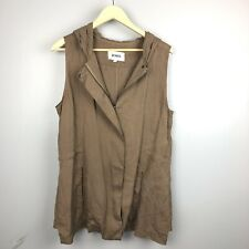 BB Dakota Women's Brown Tencel Hooded Vest Size Large