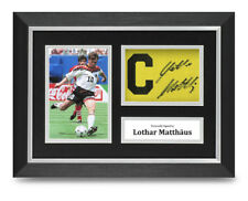 Lothar Matthaus Signed A4 Framed Captain Photo Display Germany Autograph COA
