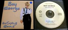 BOY GEORGE PET SHOP BOYS The Crying Game RARE 1993 FRANCE PROMO CD CULTURE CLUB