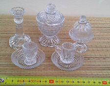 Lote de pequeña vajilla de mesa de cristal, años 1950