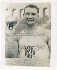 1954 AAU Shot Put Champ Parry O'Brien Press Photo