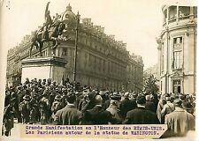 PHOTO BRANGER 090815 - MILITARIA PARIS honneur Etats Unis statue WASHINGTON