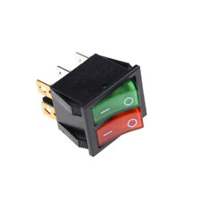 Red Green Light 6Pins Double SPST On/Off Boat Switch 16A 250V AC 20A 125V AC Pop