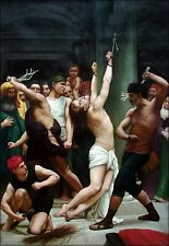 Bouguereau, The Flagellation of Christ, Repro, Quality Oil Painting 24x36in