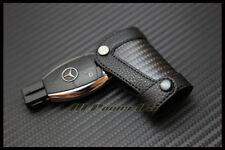 NEUF CARBON PORTE CLE Mercedes benz  EN CUIR W204 W203 W210 W211 W220 W219 W212