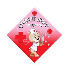 Student Nurse On Board -Window Sign PGS400WS - FREE UK POSTAGE