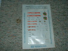 Microscale decals HO 87-299 Mitsui OSK 40' 20' Showa WMC Conrail 20' cont  D135