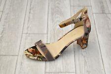 Nine West Pruce Floral Block Heel Sandal - Women's Size 10 M - Taupe/Multi NEW!