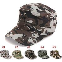 Femmes Hommes casquette de baseball Chapeau Casquette plate camouflage d'été