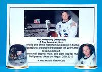 Neil Armstrong (Astronaut) Moon Landing Set of 2 China Thimbles + Card B/32