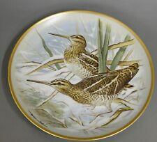 Wandteller Franklin Porcelain 1979 Limoges common snipe #4