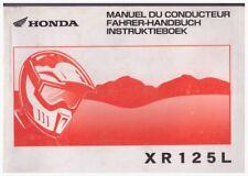 Manuel Du Conducteur; Fahrer-Handbuch; Instruktieboek Honda XR125L 2003
