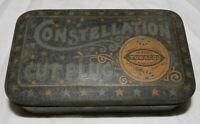Vintage Constellation Cut Plug Tobacco Tin, Empty