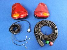 2 x RADEX 2900 Rear Car Trailer Lights with 8m Quick Fit RADEX Wiring harness