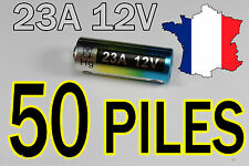 50 PILES 12V 60mAh 23A A23 23AE MN21 TELECOMMANDE PORTAIL ALARME COLLIER CHIEN