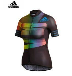 Adidas Cycling Adistar Pride Jersey Black/Glory Blue FJ6570 Women's XS NWT $160