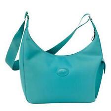 LONGCHAMP Planetes Turquoise Side Pocket Hobo Handbag  France    NEW
