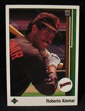 ROBERTO ALOMAR-Upper Deck 1989 Rookie Baseball Card #471-EX Condition-SD PADRES