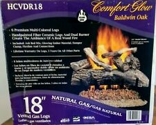 "🔥18"" Vented dual burner🔥Natural Gas Logs & Heater Set. Oak finish🔥New Iob"