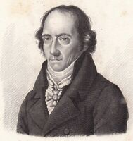 Portrait XIXe Christoph Wilhelm Hufeland Langensalza Médecine 1824