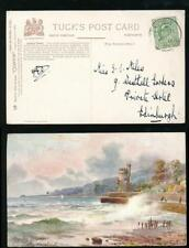 ISLE of WIGHT SEAVIEW KE7th HARRISON 1/2d MAY 1911 on TUCKS OILETTE 7571 WIMBUSH