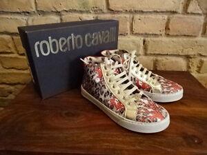 ROBERTO CAVALLI Wunderschöne knöchelhohe Sneakers  Gr.34 NEU NP.209,-
