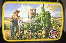 John Deere Tractor Hinged Tin Box Open Road Classics Licensed Special Edition