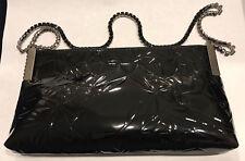 NEW: $360 Swarovski Daiquiri Black Clutch Evening Bag with Crystal Baguettes