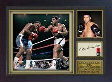 Boxer Muhammad Ali signed autograph WORLD CHAMPION Boxing Memorabilia Framed #04
