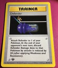 Defender 80/102 1st Ed First Edition Base Set Uncommon Trainer Pokemon Card